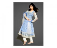 Order Cotton Anarkali Designer dress online - fashion1world.com