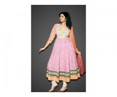 Order Georgette Anarkali Designer dress Online  - fashion1world
