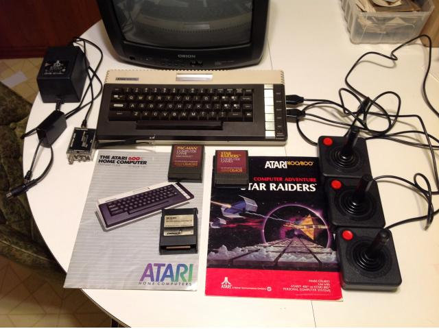 Atari 600XL with 3 Games and Books