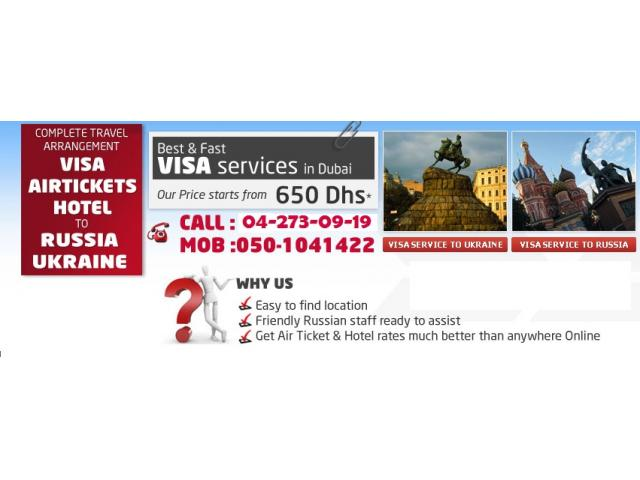 How to get Russian Visa for 650Aed Only