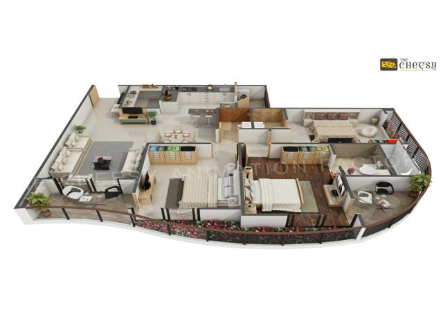 3D Floor Plan Rendering Studio Services