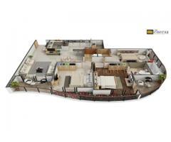 3D Floor Plan Rendering Studio Services