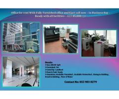 Ready Office for Rent,Decent Sized Glass Partitioned Cabin Shared office=AED 45,000 /yr