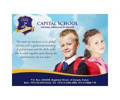British curriculum school  in Qusais - CAPITAL SCHOOL +971-52-645-5110.