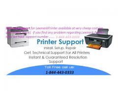 Customer Support for Lexmark Printer 1-844-443-0333 in US
