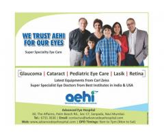 Get the Pediatric Ophthalmology and Squint service at eye hospital near Panvel, Kharghar, Vashi