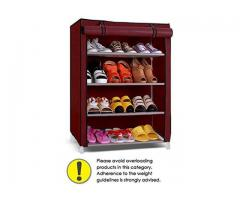 4-5 Layer Maroon Shoe Rack