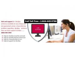 Antivirus Security Support for McAfee 1-844-445-9786 UK
