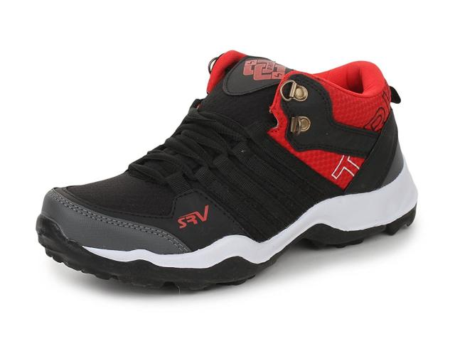 Trase SRV Mirage Black/Red Kids Boys Men Sports Running Shoe