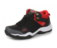 Trase SRV Mirage Black/Red Kids Boys Men Sports Running Shoe