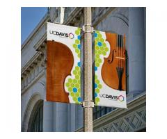 Polyester Rectangle Street Pole Banner at PapaChina