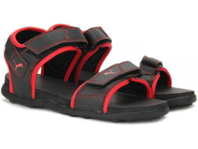 Puma Men Black - red Sports Sandals