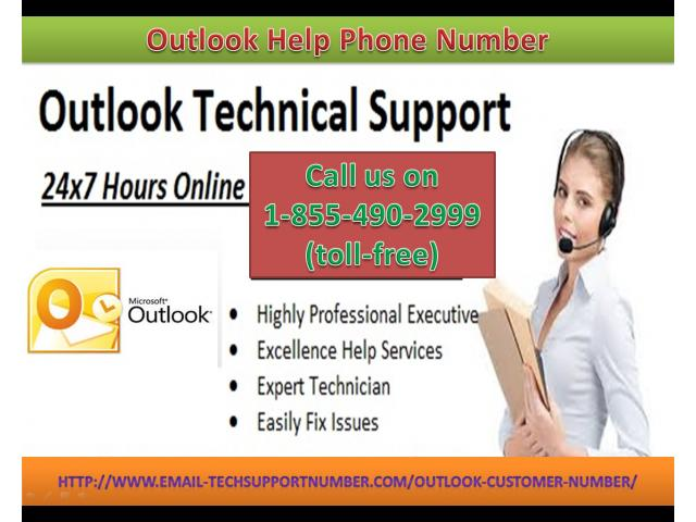 Outlook Customer Service Number 1-855-490-2999 (toll-free) help of forgot Outlook account