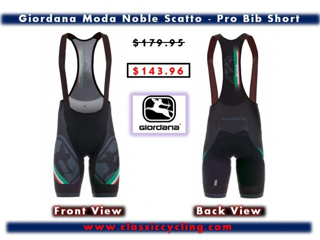 Giordana Moda Noble Scatto Pro Bib Short | Pro Cycling Apparel