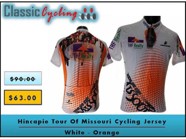 Hincapie Tour Of Missouri Cycling Jersey | White Orange