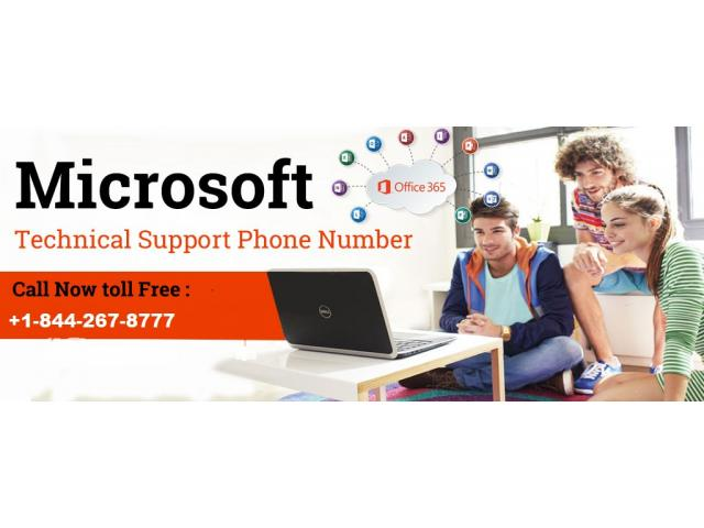 Microsoft support number +1-844-267-8777