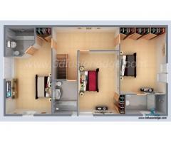 Unique 3D Floor Plan Rendering