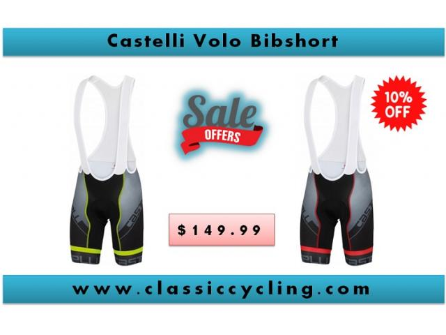 Castelli Volo Bib Short - Black/Red | Men's Cycling Apparel | Cycling Accessory