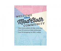 JOIN THE MODCLOTH COMMUNITY  M000274  OJM-Aug-03
