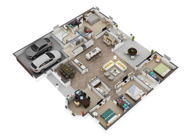 3D Floor plan outsourcing