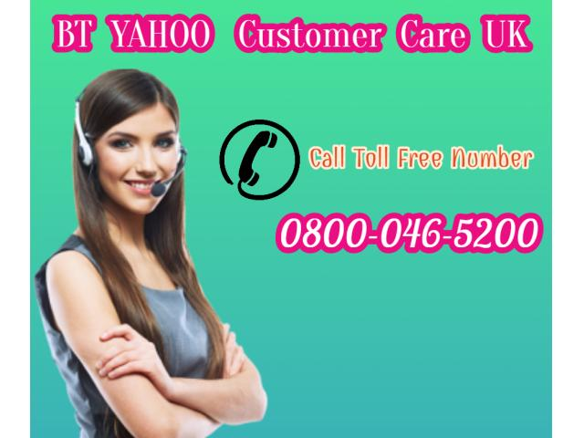 BT Yahoo UK password assistance 0800-046-5200