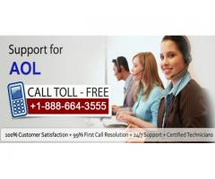 Dial +1-888-664-3555 the AOL mail support number