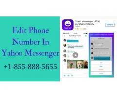 How To Edit Phone Number On Yahoo Messenger