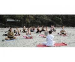 Yoga Teacher  teaching  in yoga
