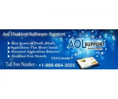 Dial up AOL email desktop 1-888-664-3555 software service phone Number for any support