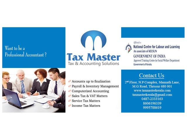 GST VAT training in Thrissur, Kerala - TAX MASTER - 0487-2333163