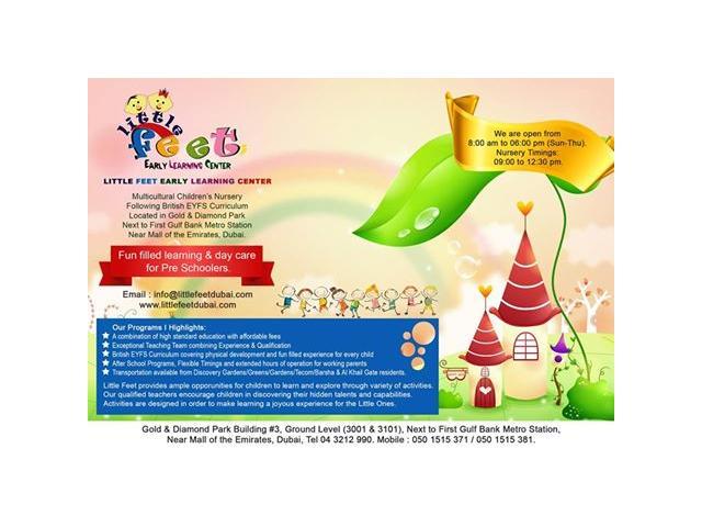LITTLE FEET Early Learning Centre - Nursery in Al Barsha - 050 1515 371.