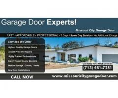Call us (713) 481-7281 for Garage Door Installation in Missouri City, TX
