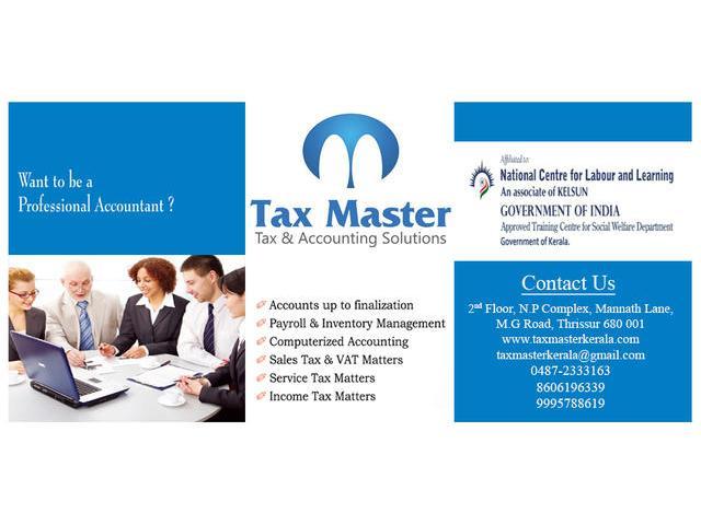 Gulf VAT training in Thrissur, Kerala - TAX MASTER - 0487-2333163