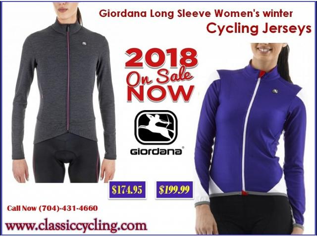 Giordana Forma Red Carbon Long Sleeve Women's winter Jersey