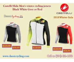 Getting Super Saving || Men's Long Sleeve Winter RED Jersey