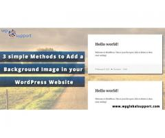 3 simple Methods to Add a Background Image in your WordPress Website