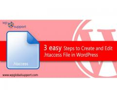 3 easy Steps to Create and Edit .htaccess File in WordPress