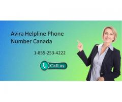 Avira support number Canada 1-855-253-4222