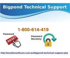 Bigpond Technical Support 1-800-614-419 For Blocked Account