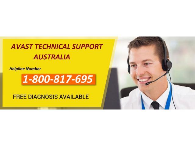 Dial Avast Helpline Number for Australia 1-800-817-695