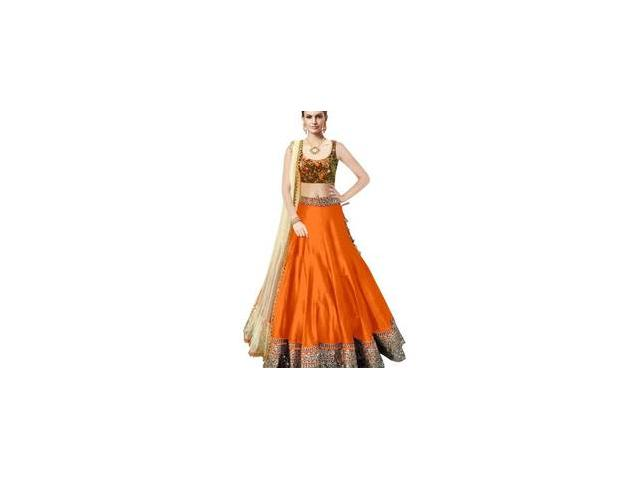 Buy Online Orange Lehengas with up to 75% Off at Mirraw