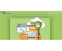 Quick Fix: Password Reset Key Error in WordPress?
