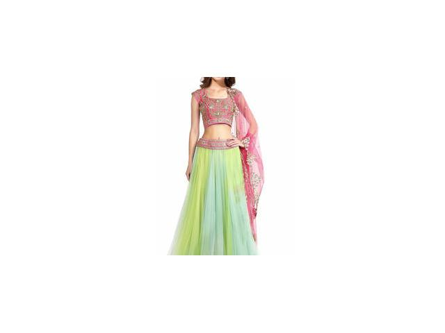 Exclusive Collection of Green Lehengas At Mirraw