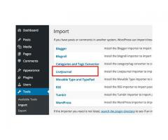 Step by step guide for Migration from LiveJournal to WordPress