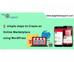 5 simple steps to Create an Online Marketplace using WordPress