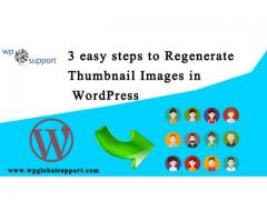 3 easy steps to Regenerate Thumbnail Images in WordPres