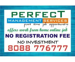 Work at home without investment and Registration fees