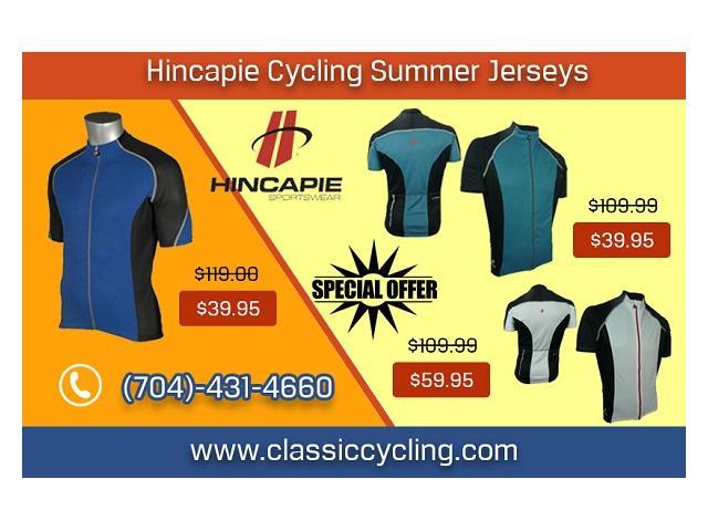 Summer Sale 2019 - Hincapie Men Cycling Jersey by Classic Cycling