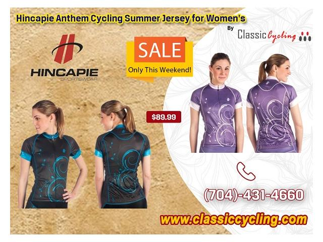 2019 Summer's Biggest Discount on Hincapie Women's Anthem Cycling Jerseys at Classiccycling.com