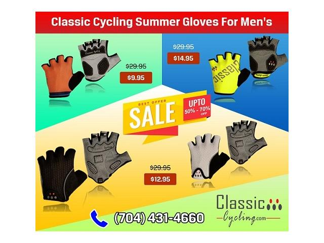 Huge Summer Sale on Classic Cycling Men Gloves – Up to 67% OFF at Classiccycling.com